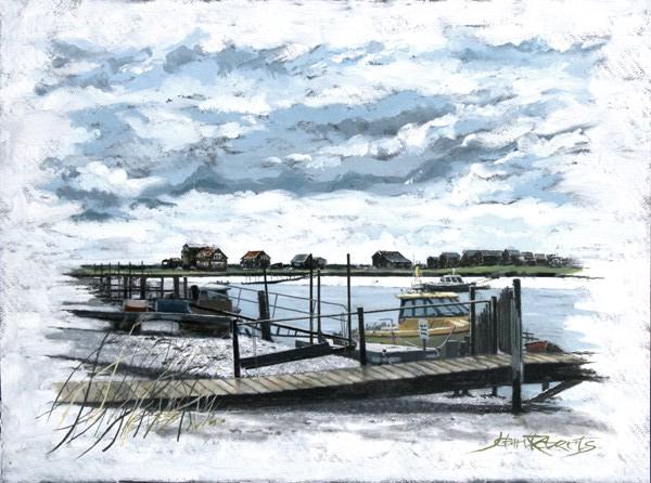 John Roberts - Harbour at Southwold