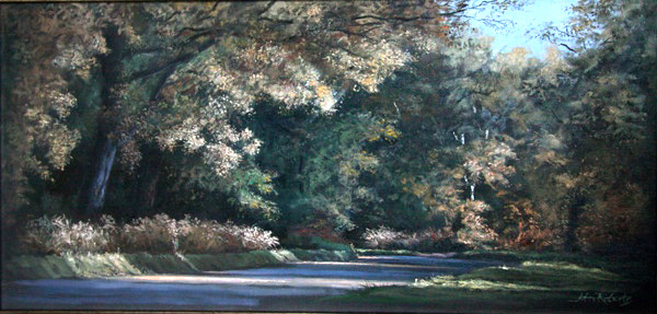 John Roberts - Suffolk road in autumn