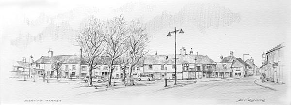 John Roberts - Wickham Market Sketch