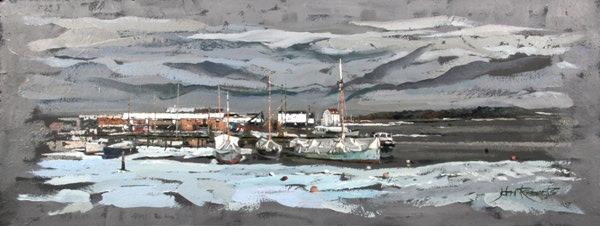 John Roberts - Bass Dock in winter