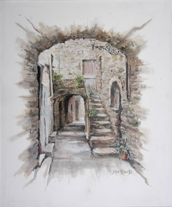 John Roberts - Hilltop village in France