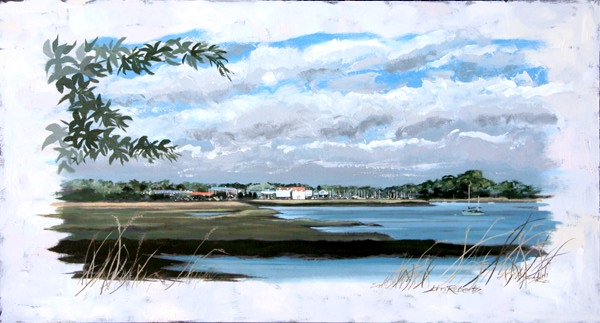 John Roberts - Woodbridge from Kyson Point