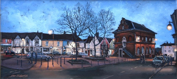 John Roberts – Market Hill at twilight