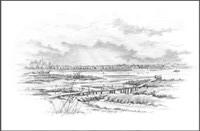 John Roberts - River Deben Drawing