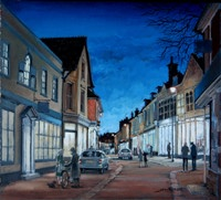 John Roberts - Evening window-light in Woodbridge