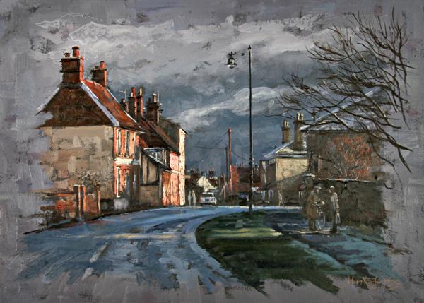 John Roberts - Winter Sun in Woodbridge